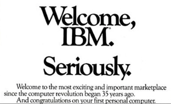 welcome IBM Apple Ad